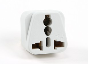 Turnigy WD-016 Fused 13 Ampere Netzstrom Multi-Adapter-Weiß (AU-Stecker)