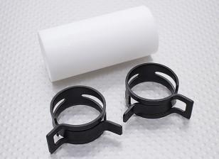 Teflon-Koppler mit Clips (28mm Pipe) für Schalldämpfer