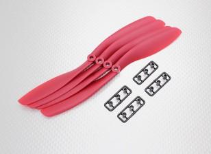 Hobbyking ™ Propeller 8x4.5 Rot (CCW) (4 Stück)
