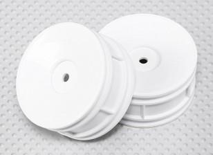 Maßstab 1:10 Rad Set (2 Stück) Weiß Dish Stil RC Car 26mm (kein Offset)