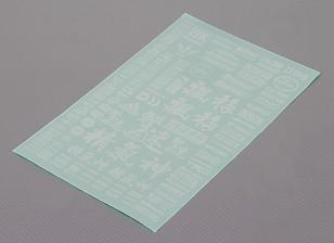 Self Adhesive Decal Sheet - Charakter Maßstab 1:10 (weiß)