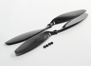 Carbon-Faser-Propeller 12x3.8 Schwarz (CW / CCW) (2 Stück)