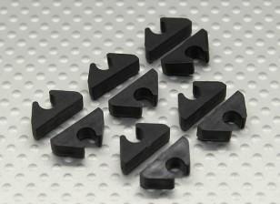 Air Line / Kraftstoff-Linie / Cable Tidy Clip für 5mm OD (10 Stück)