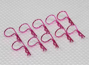 Large-Ring 90 Deg Body Clips (lila) (10 Stück)