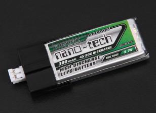 Turnigy Nano-Tech-300mAh 1S 45C Lipo-Pack (Anzüge FBL100 and Blade MCPX)