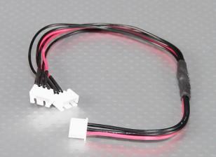 JST-XH Parallel Rest Blei 2S 250mm (2xJST-XH)