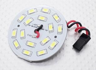 Weiß 16 LED Rund Light Board mit Blei