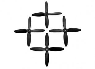 5x4inches 4-Blatt-Schwarz