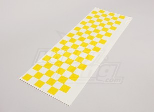 Decal Sheet Chequer Muster-Gelb / Clear 590mmx180mm