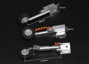 Turnigy Full Metal Servoless Retracts mit Oleo Beine (Tricycle, F86-Typ)