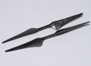 Acromodelle Carbon-Faser T-Style Propeller 15x5.5 Schwarz (CW / CCW) (2 Stück)