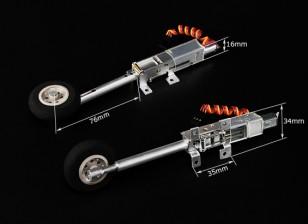 Turnigy 90 Grad Alle Metall Einziehfahrwerk w / Sprung Bein / Räder (Modelle 2kg AUW Max)