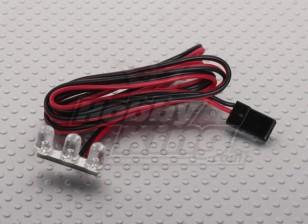 3 LED-Streifen-Rot