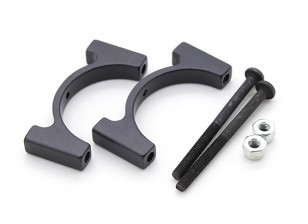Schwarz eloxiert CNC-Aluminiumrohrklemme 25 mm Durchmesser
