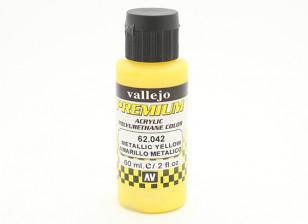 Vallejo Premium-Farbe Acrylfarbe - Metallic Gelb (60 ml)