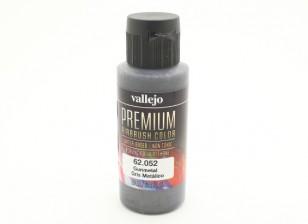 Vallejo Premium-Farbe Acrylfarbe - Gunmetal (60 ml)
