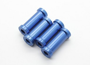 30mm CNC-Aluminium Stand-Offs (blau) 4pcs