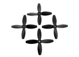 4x4inches 4-Blatt-Schwarz