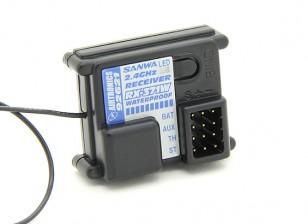 Sanwa / Airtronics RX-371W 2,4-GHz-FH-2 3CH wasserdichte Empfänger