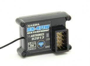 Sanwa / Airtronics RX-471W 2,4 GHz Super-Response-4CH Wasserdicht Empfänger