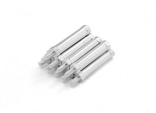 Leichte Aluminium-Rund Abschnitt Spacer mit Nietenende M3 x 30mm (10pcs / set)