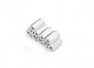 Leichte Aluminium-Hex Abschnitt Spacer M3 x 10mm (10pcs / set)