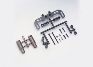 Yokomo Realistische Muffler Set - Gun Metal