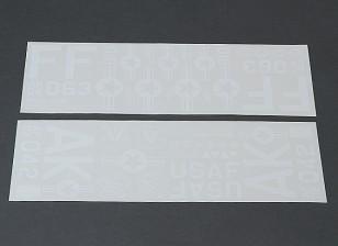 USAF Self Adhesive Aufkleber Set