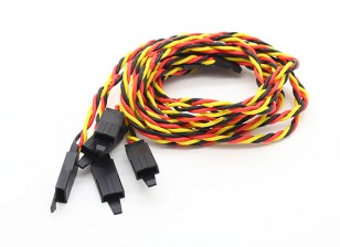 Verdrehte 45cm Servokabel Extention (JR) mit Haken 22 AWG (5pcs / bag)