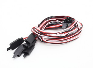 45CM Servo Lead-Extention (Futaba) mit Haken 26AWG (5pcs / bag)