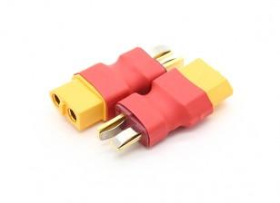T-Connector-auf-XT60 Batterieadapterkabel (2pc)