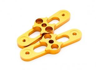 Gold-CNC 2 Blatt-faltender Propeller Adapter