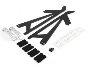 Tarot-450 PRO / PRO V2 Carbon Fiber Landing Skid Set (TL2775-01)