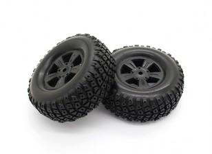Reifen Set - Basher PitBull 1/18 4WD Buggy Wüste (2 Stück)