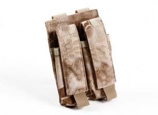 SWAT 500D Nylon Molle Pistole Double Mag Pouch (Kryptek Nomad)