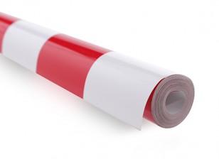 Bedecken Film Grill-Arbeit Rot / Weiß XL (5mtr) 405