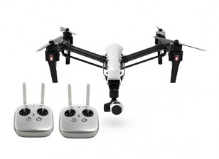 DJI T600 Inspire 1 Quadcopter w / 4K Kamera, 3-Achsen Gimbal und Dual-Transmitter