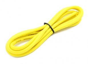 Turnigy Qualitäts-12AWG Silikonkabel 1m (Gelb)