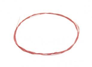 Turnigy Qualitäts-36AWG Teflon beschichteter Draht 1m (rot)