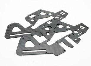 Sturm 450DFC TT & Gürtel Flybarless 3D Hubschrauber Carbon-Seitenrahmen (2 Stück)