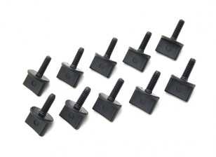 Nylon Rändelschrauben M4 x 12mm Schwarz (10 Stück)