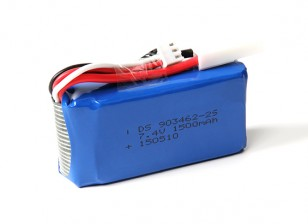 FT009 High Speed ​​V-Rumpf-Rennboot 460mm Ersatz 7.4V 1500mAh Lipo Akku