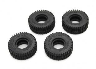 Small Block Reifen (4 Stück) - OH35P01 1/35 Rock Crawler Kit