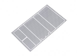 Track Dekorative Batterie-Abdeckung Panels für 2S Shorty-Pack Silber Carbon-Muster (1 PC)