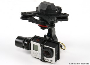 HMG YI3D 3-Achsen-Brushless Gimbal kompatibel mit GoPro Hero3 Art Action-Kamera