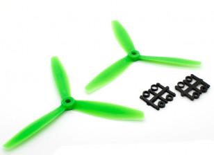 GemFan 6040 GFK-3-Blatt Propellers CW / CCW Set Green (1 Paar)