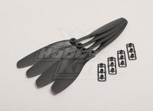 GWS Stil Slowfly Propeller 8x4.5 Schwarz (CW) (4 Stück)