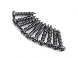 Metall-Rundkopf Selbst Tapping Sharp Schwanz Phillip Schraube M2.5x12-10pcs / set