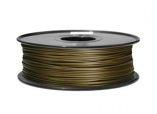 Hobbyking 3D-Drucker Filament 1.75mm Metall-Verbund 0,5 kg Spule (Messing)