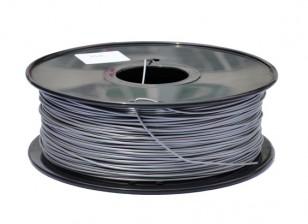 Hobbyking 3D-Drucker Filament 1.75mm PLA 1KG Spool (Metallic Silber)